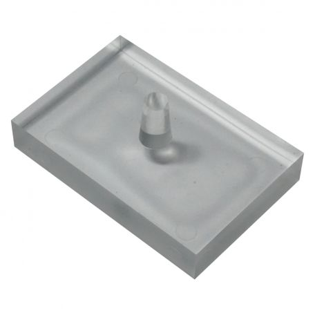 Light box spares,  prism, rectangular block, acrylic - 75 x 50mm