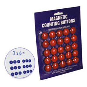 Magnetic counting buttons