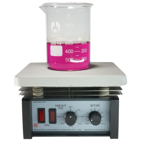 Magnetic stirrer/hotplate, thermostat with cast aluminium plate