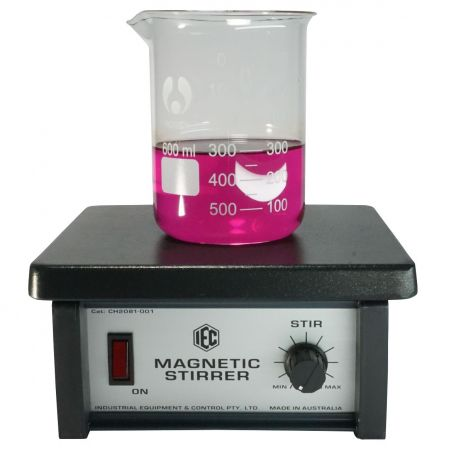 Magnetic stirrer with PTFE coated plate