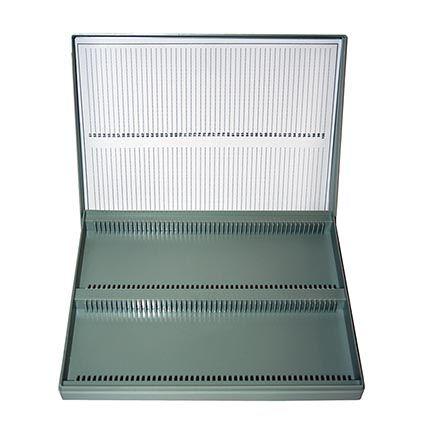 Microscope slide box, polystyrene, for 100 slides