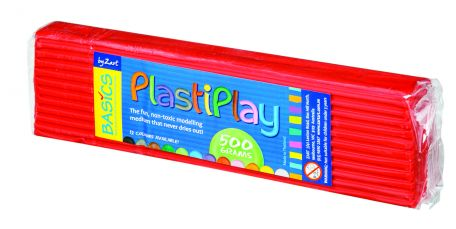 Plasticine, 500g, red