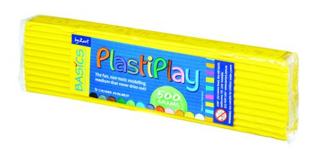Plasticine, 500g, yellow
