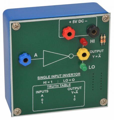 Gates, demonstration,  Invertor (single input)