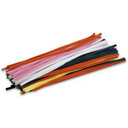 Pipe Cleaner, assorted colours, pk/50