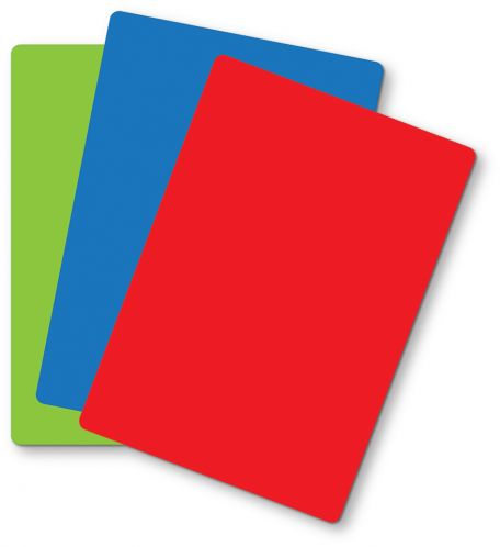 Protective mats, plastic, red, set of 10