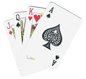 Playing Cards, giant, 1 pack (14 x 9.5cm)