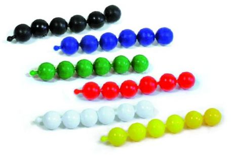 Poppit beads,  White, pkt/2000