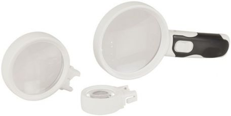 LED Handheld Magnifier with Three Lenses