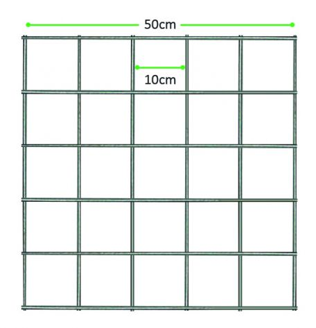 Quadrat Grid 50x50cm, 10cm grid