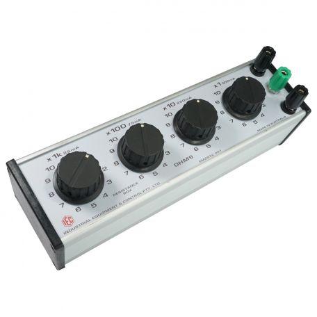 Decade Resistance Box 4 dial x 1 ohm.