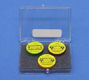 Radioactive source set of 3 - Po, St, Co