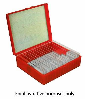 Prepared microscope slides, Biology, set of 25
