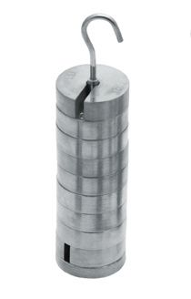 Stainless steel weights, Slotted, On carrier, Set/9 x 100gm