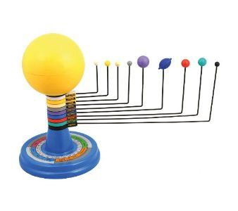 Solar System model, with light