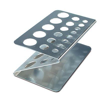 Test tube rack, Z shape, aluminium