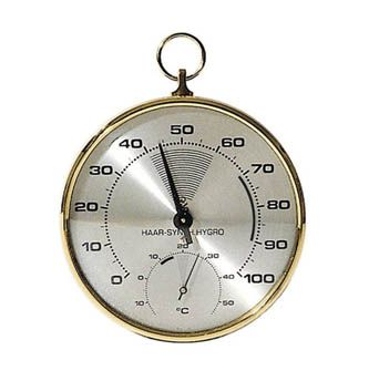 Thermometer/Hygrometer, dials, 100mm dia.