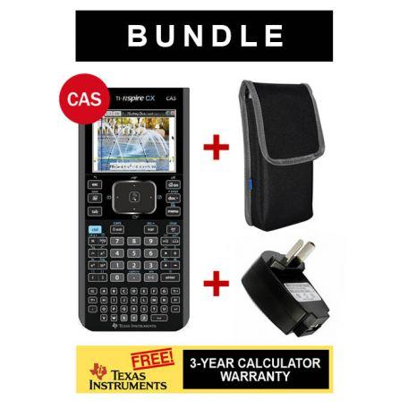 TI-Nspire CX CAS calculator + Wallet  + Warranty + USB Adaptor