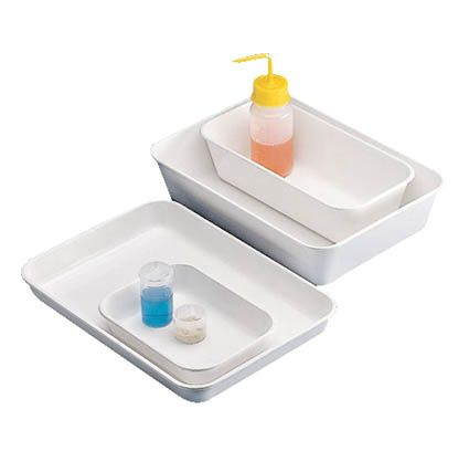 Tray, ABS, white,  30 x 15 cm x 80mm sides.
