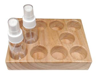 Flame test bottle tray, 10 place