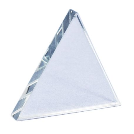 Triangular prism, equilateral, giant block, 180 x 180 x 25mm, acrylic