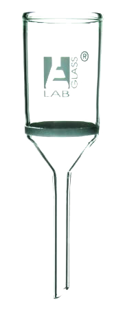 Buchner funnel, glass, sintered disc, 80ml, poro 4