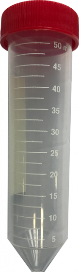 Test tube with screw cap, PP, 50ml. Pack 24