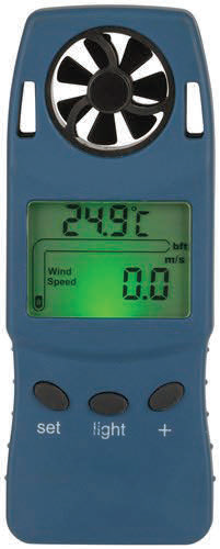 Hand-held anemometer & altimeter