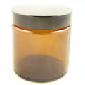 Glass jar, amber, with screw cap, 120ml