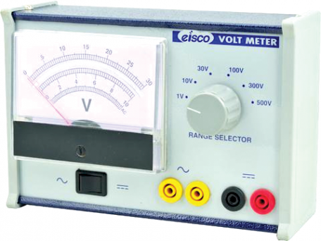 Multirange moving coil voltmeter