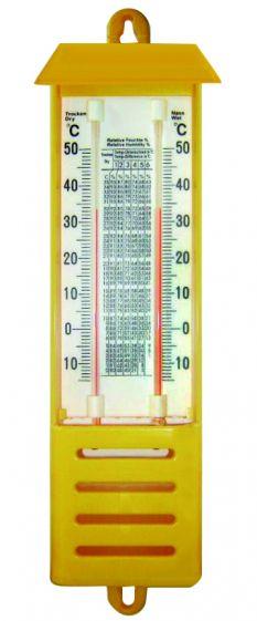 Hygrometer wet and dry bulb