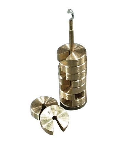 Weights, brass slotted, 50g