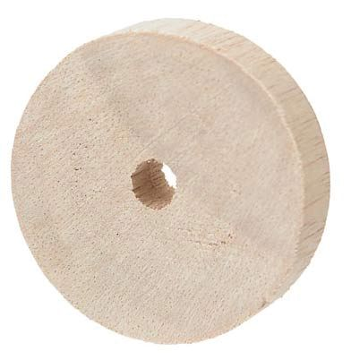Wheels, wooden, 45mm, pack 20