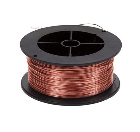 Copper wire, bare, 14 SWG, 50g reel