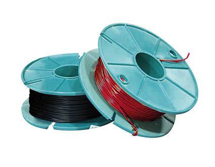 Copper wire, bellwire, red, 1 x 0.5mm, 100m