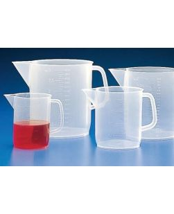 Jugs, graduated, polypropylene