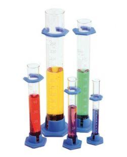 Cylinder, measuring, glass, plastic base