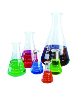 Flask Bomex, Erlenmeyer (Conical), glass 100ml, pack of 20