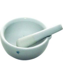 Mortar & pestle, porcelain