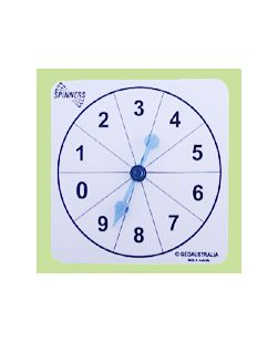 Numeral Spinners, Numeral 0-9, Set/10