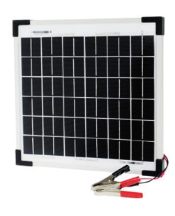 Solar Panel with Lead and Clamps