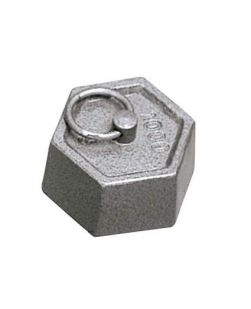 Weights, cast iron, hexagonal with ring